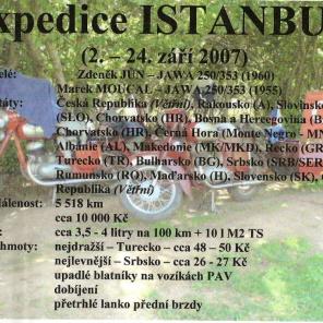 2.9.-.24.9.2007 expedice Istanbul